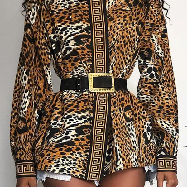 Double Breasted Leopard Print Tunic 2