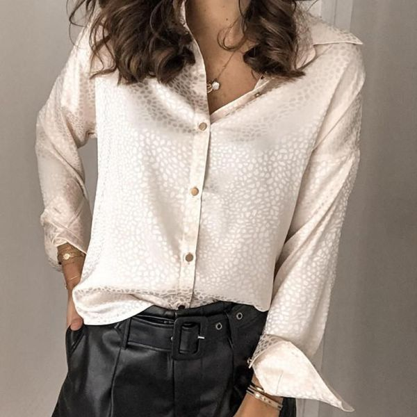 Solid Button-Up Jacquard Shirt 2