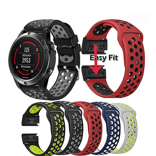 Watch Band Wrist Strap for Garmin Fenix 5 / Approach S60 / Forerunner 935 / 945 / Quatix 5 / Quatix 5 Sapphire / Fenix 6 / Fenix 5 Plus Watch Quick Release Silicone Easyfit Bracelet Wristband 2
