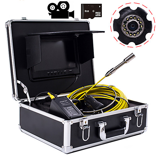 23 mm lens Industrial Endoscope 20M Working length 9-inch Display With Video Camera Function Car Repair Inspection Pipeline Repair 2