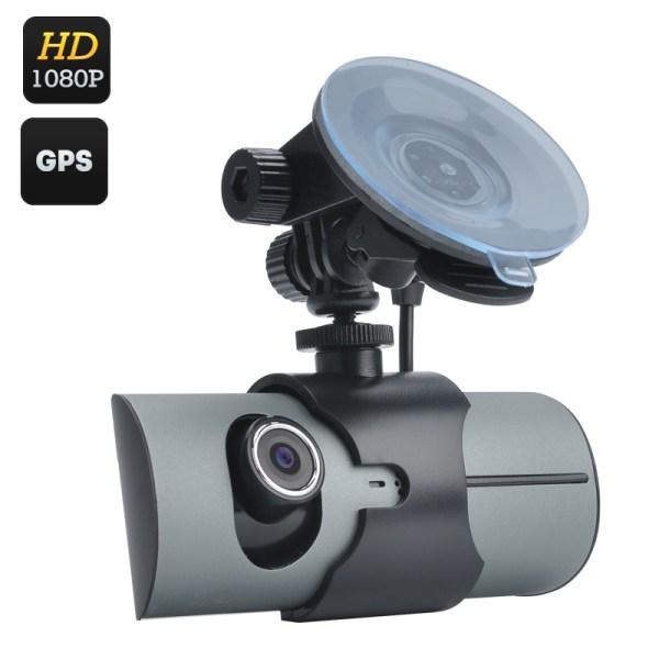 Dual Camera Car DVR - 2.7 Inch Display, 130 Degree Lens, GPS, G-Sensor, Double CMOS Sensor, Micro SD, H.264 Decoding 2