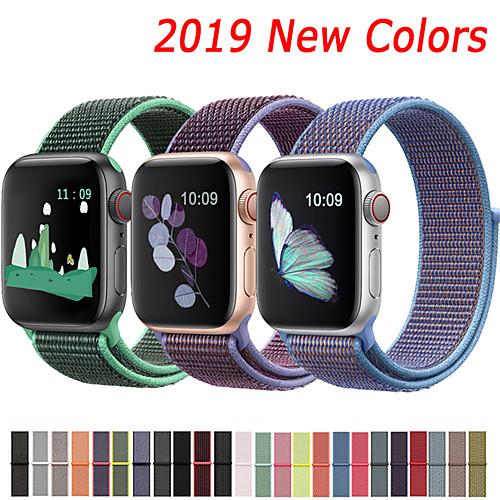 Nylon Strap For Apple Watch band 44mm 40mm 42mm 38mm Sport Loop Belt Bracelet For Apple Watch Series 5/4/3/2/1 Accessories 2