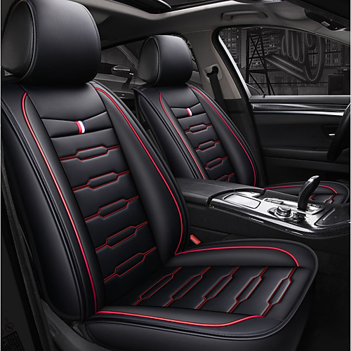 5 seats Black and Red Black and Blue Four Seasons Car seat cover for Five seat car/PU Leather Material/Airbag compatibility/Adjustable and Removable/Family car/SUV 2