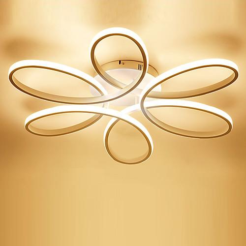 1-Light 58 cm LED Flush Mount Lights Metal Silica gel Linear Painted Finishes Modern Contemporary 110-120V / 220-240V 2