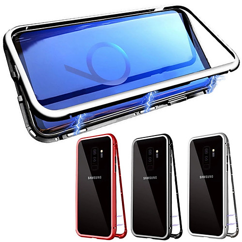 Case For Samsung Galaxy Galaxy S10 / Galaxy S10 Plus Magnetic Full Body Cases Solid Colored Tempered Glass 2