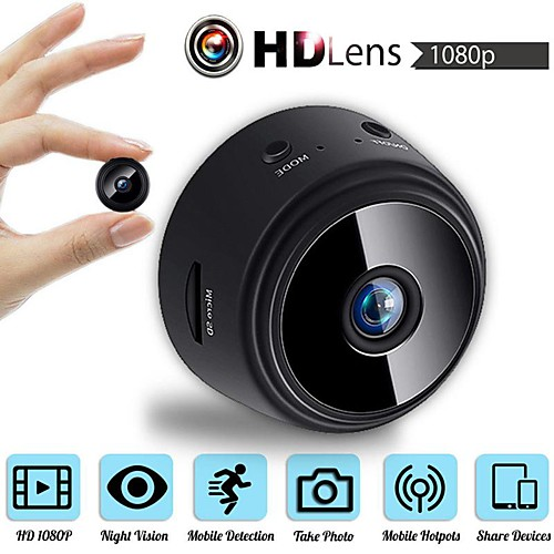 MINI Wireless Camera 32G TF Card HD APP 25fps P2P IP WIFI Camera 1080P Night Vision Motion Detection 2 mp Security IP Camera Indoor Support 64 GB / CMOS / 50 / 60 / iPhone OS / Android 2