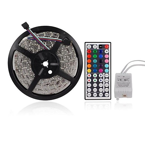 ZDM 5M 300 x 2835 8mm RGB LED Strips Light Flexible and IR 44Key Remote Control   Linkable  Self-adhesive  Color-Changing 2