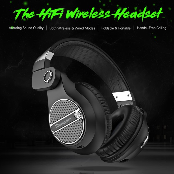 Langsdom BT20 Bluetooth Headphone Wireless Gaming Headset HiFi Earphones with Microphone for Phone Computer Cool black 2
