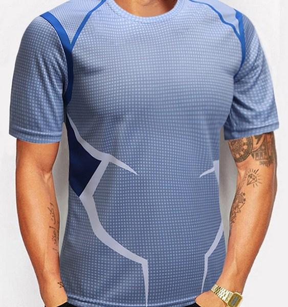Men American Captain Avenger Alliance Series T-shirt Sports T-shirt 1