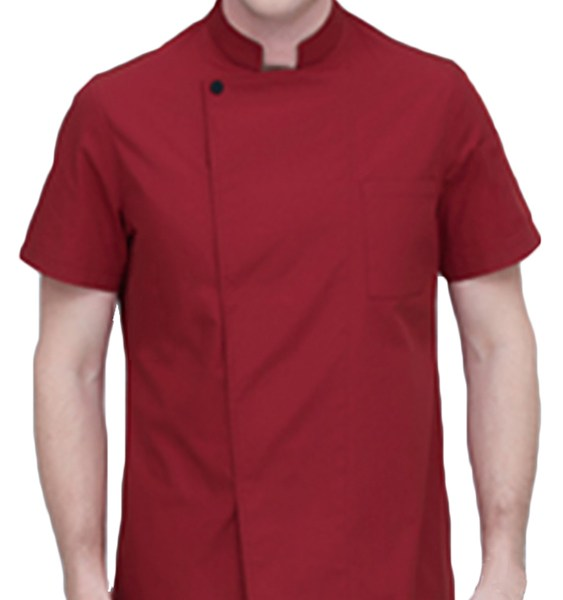 Men Chefs Jackets Short Sleeve Top Professional Catering Cooks Work Shirt 2