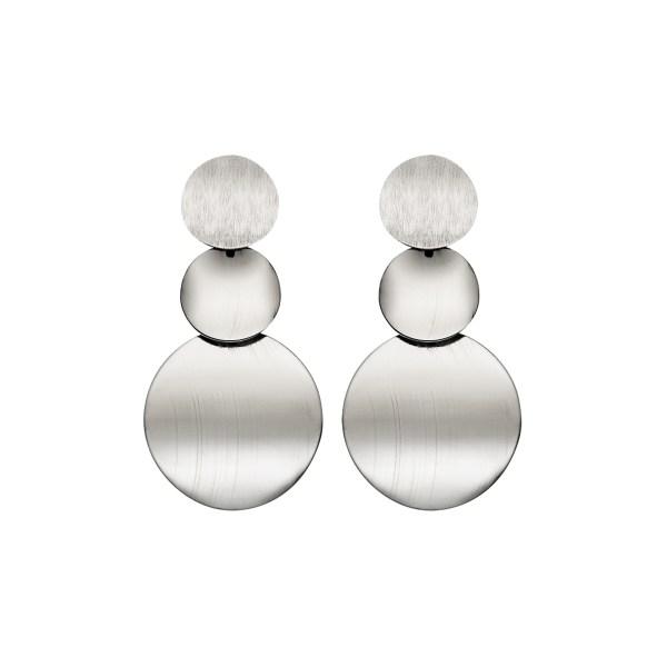 Sliver Geometric Design Vintage Metal Earrings 2