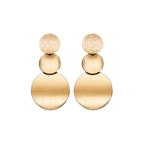 Gold Geometric Design Vintage Metal Earrings 2