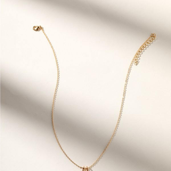 Gold Color Horseshoe Necklace 2