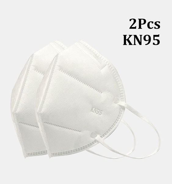 2 Pieces / Pack 0f KN95 Masks Passed The GB-2626-KN95 Test PM2.5 Filter Respiratory Protective Mask 2
