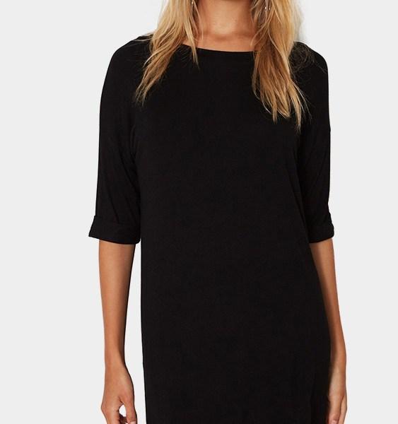 Black Fashion T-shirt Mini Dress 2