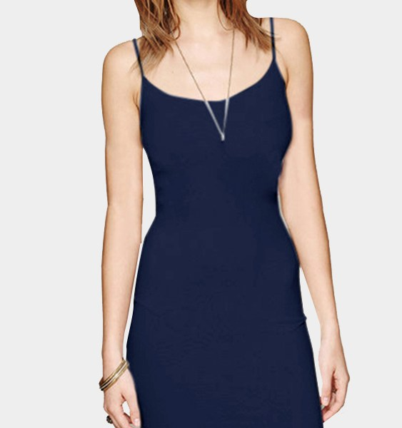 Dark Blue Cami Bodycon Mini Dress 2