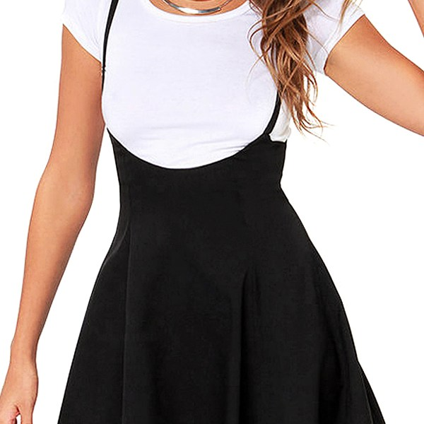Black Skater Skirt With Flouncing Hem 2