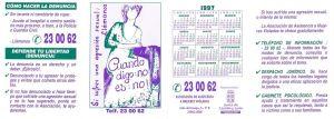Calendario ADAVAS 1997
