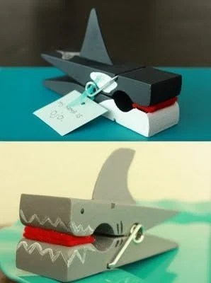 shark clothespin crafts