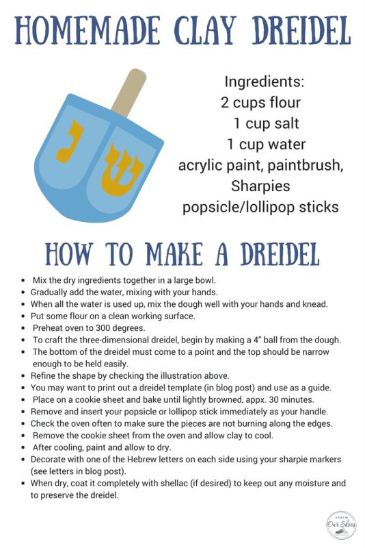 how to make a clay dreidel