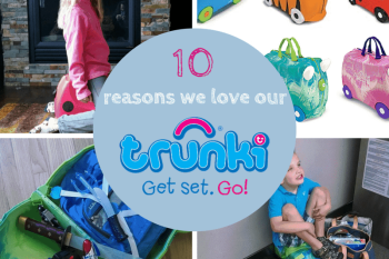 Trunki! The carry-on, sit-on, ride on luggage that every traveling kid should have. {review}