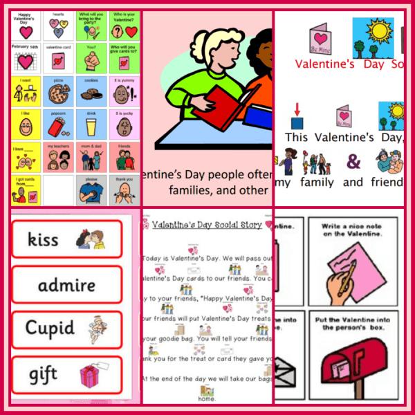 printable social stories for Valentine's Day