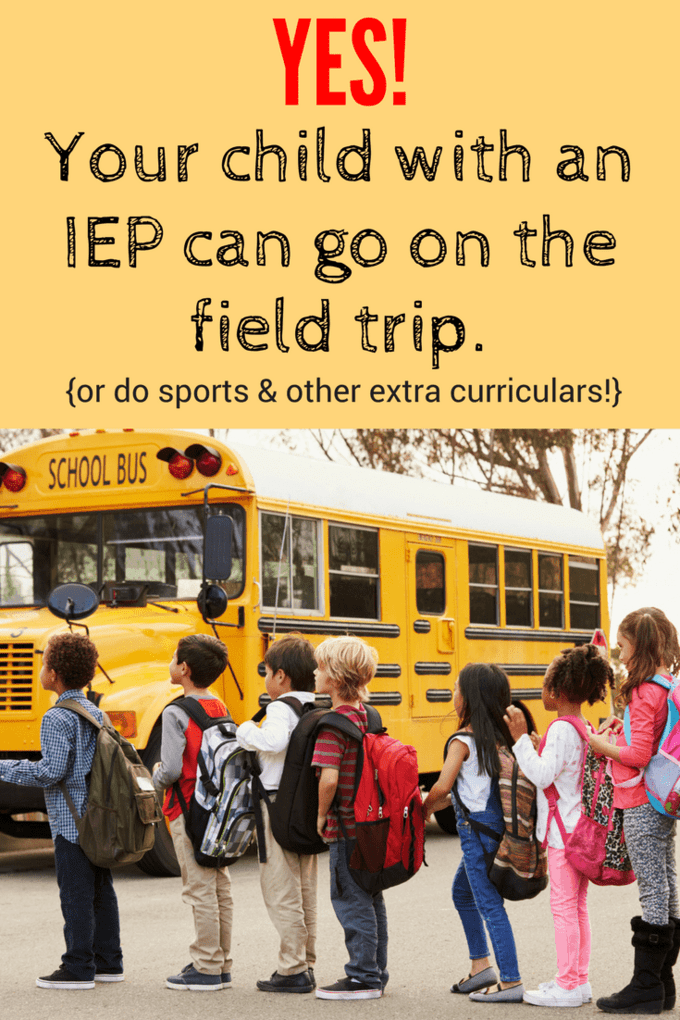 Yes, children with disabilities are being excluded from field trips and other school sponsored activities, because of their disabilities. Happens all the time. And it's against the law. Here are the steps you can take if it happens to you.