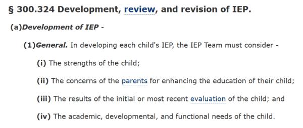 strengths based IEP
