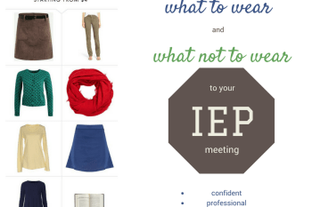 What to wear to an IEP meeting.