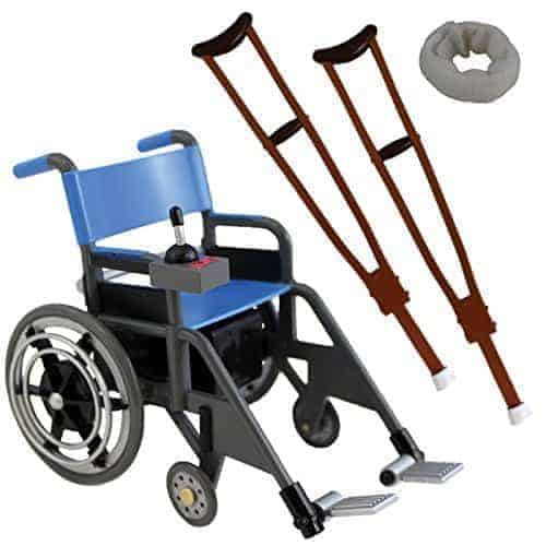 wwe wheelchair set