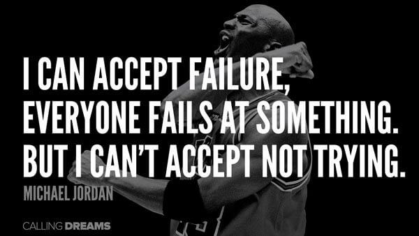 michael jordan quote about trying
