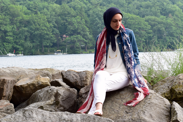 Fashion; Modesty; Fashion Blog; Hijab; Fourth of July; Patriotic; Red White & Blue