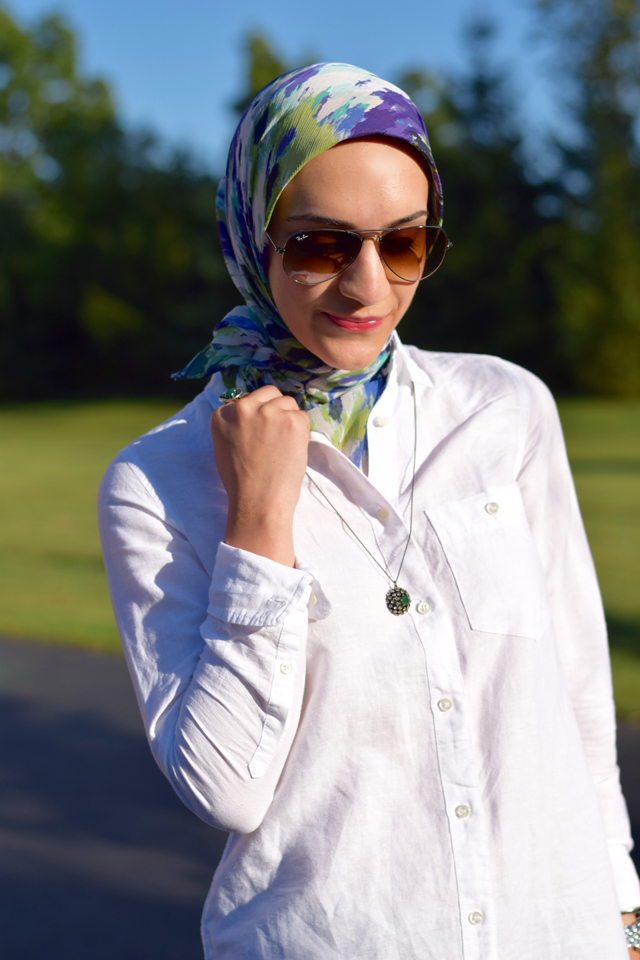 A Day In The Lalz; J. Crew; Summer; White Tee; Modesty; Fashion; Hijab