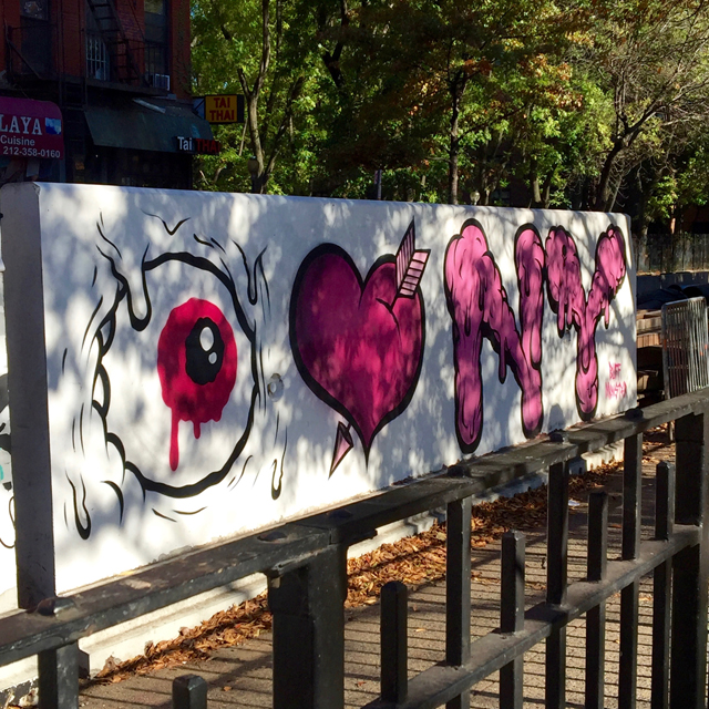 A Day In The Lalz; Travel Blog; NYC; New York City; Street Art NYC; NYC Itinerary; Fun Things to Do in NYC; Buff Monster; 1 St and 1 Avenue