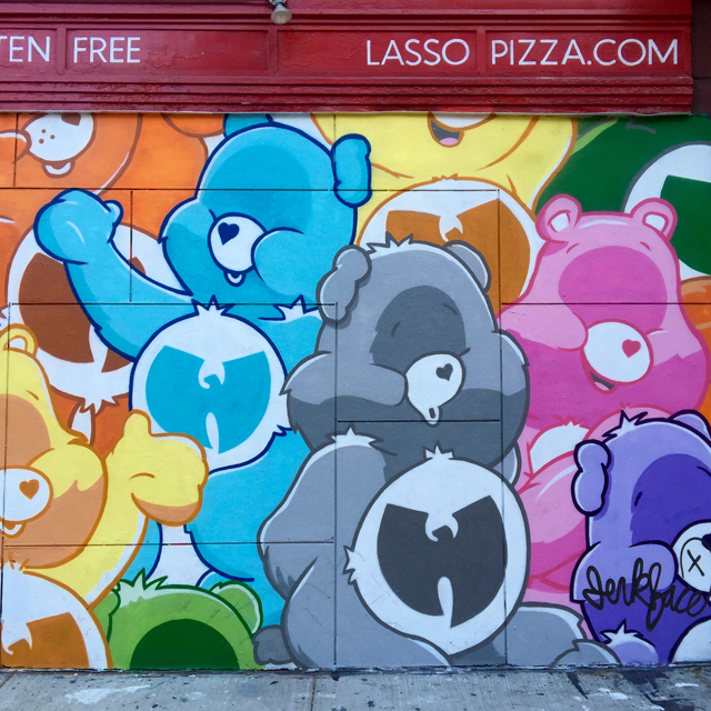 A Day In The Lalz; Travel Blog; NYC; New York City; Street Art NYC; NYC Itinerary; Fun Things to Do in NYC; Wu-Tang Care Bears by Jerkface; 192 Mott St