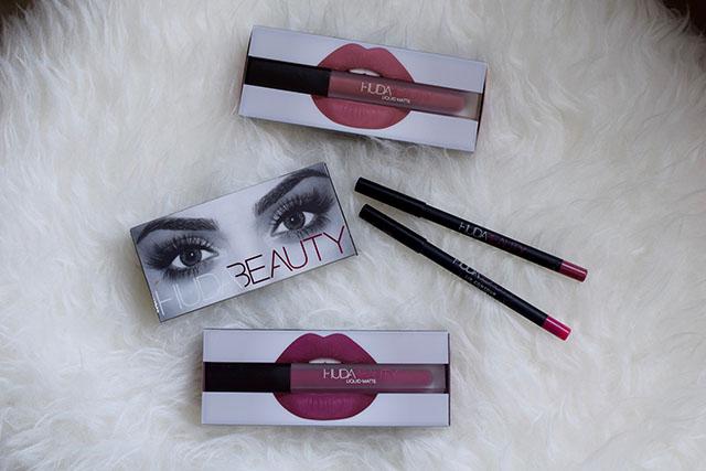 Huda Beauty Liquid Matte Lipstick - Trophy Wife - Sephora - Liquid Matte Lipstick Blog Post - Lip Contour Matte Pencil