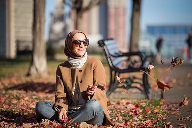 Fall Layers - J. Crew Camel Coat - Boyfriend Jeans - Leopard Heels - Tunic Turtleneck Sweater - Federal Hill Park - Baltimore - Vasiliki Photo - Haute Hijab Scarf - Fashion Blogger - Hijab Fall Fashion - Modest Fashion