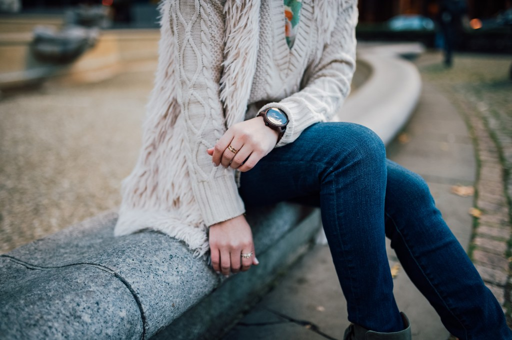 Bow Booties for Fall and JORD wood watch