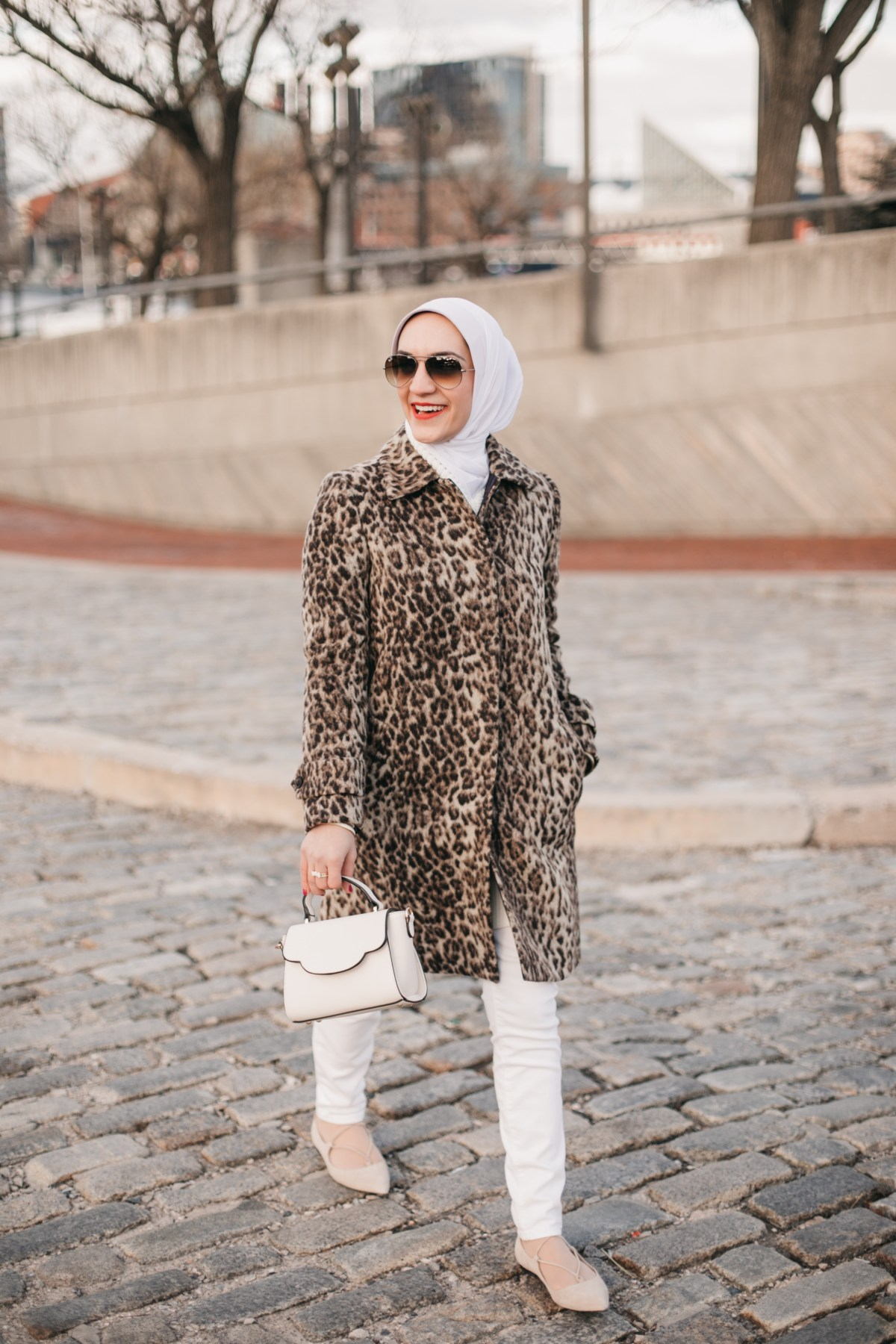 Leopard Topcoat, A Day In The Lalz, Hijabi Fashion