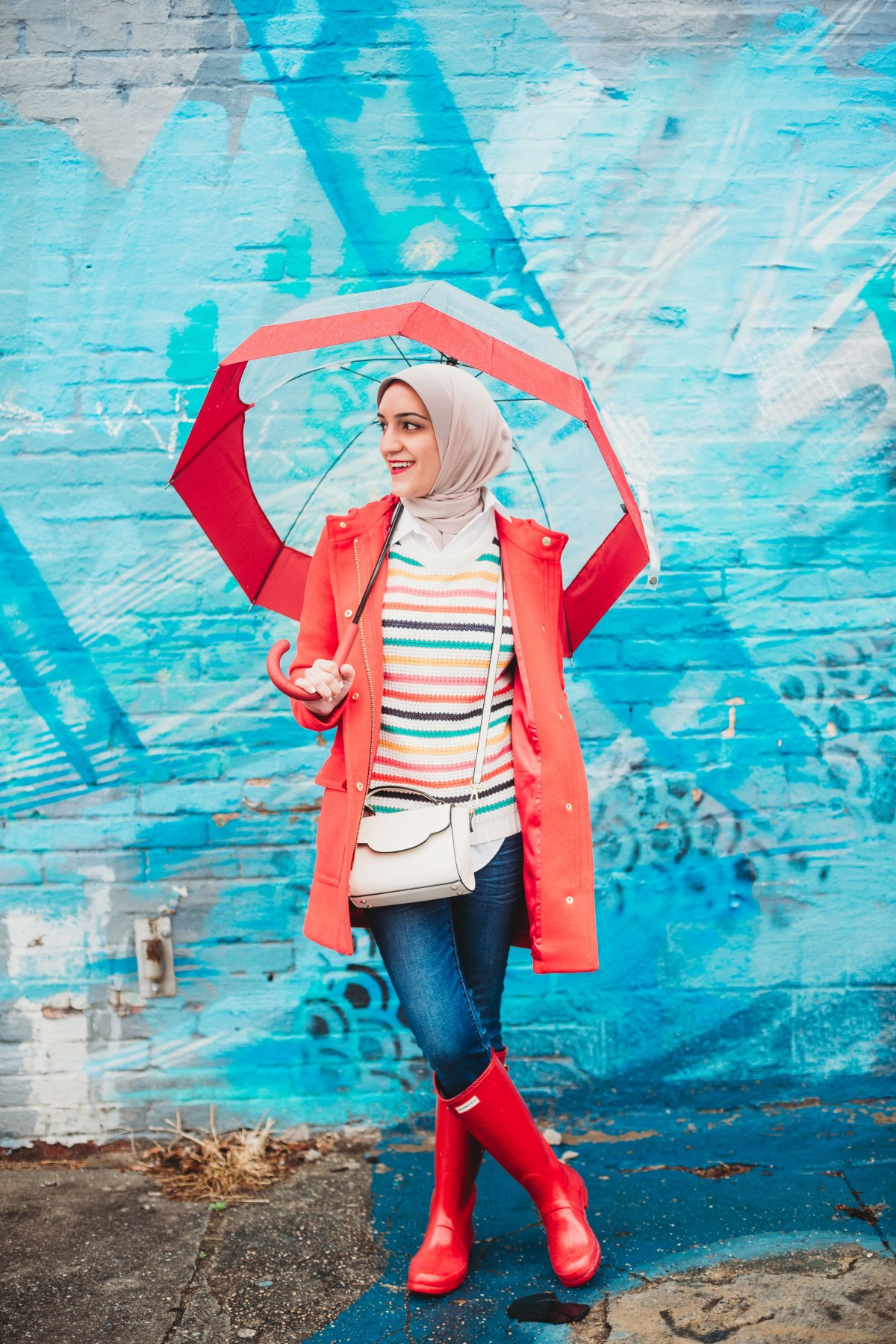 Rainy Day, Blogger Style, Hunter Boots, A Day In The Lalz, Baltimore