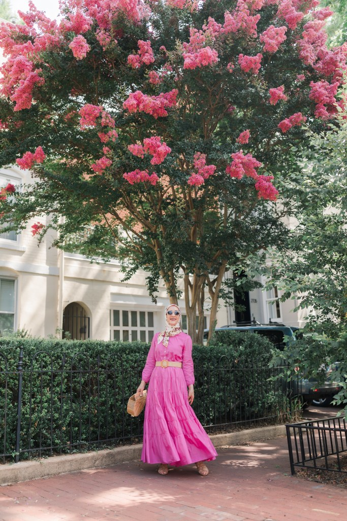 J.-Crew-Belted-Maxi-Dress-Pink-Hijab
