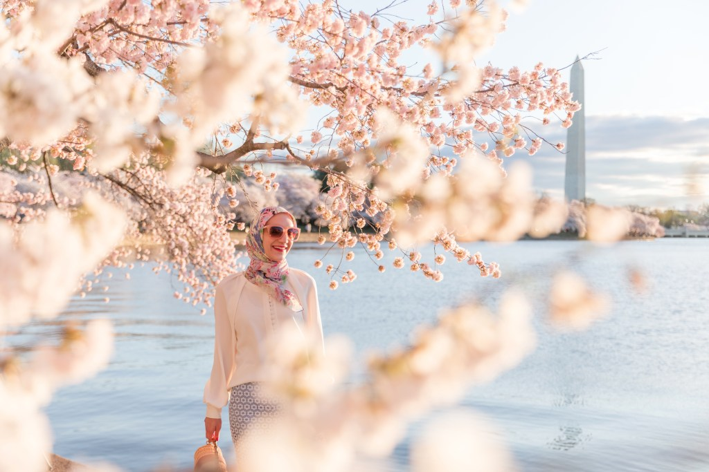 DC-Cherry Blossoms-Tidal Basin-Hijabi Fashion-Lalz