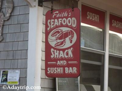 Faith's Seafood Shack signage