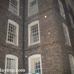Do you see a ghost face in this haunted, Providence building?