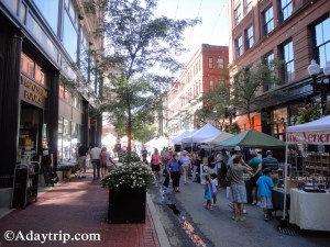 The Vendor Booths at the Providence Art Festival