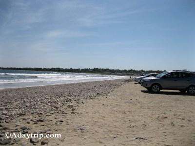 South Shore Beach parking lot