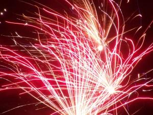 Streaks from a Firework