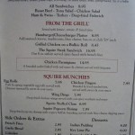 Chatham Squire Menu