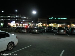 The parking lot near Whole Foods in the back corner of Legacy Place