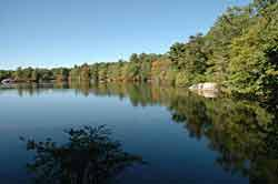 Breakheart Reservation in Saugus is a great place to go hiking in MA. It features lakes and views of the city.